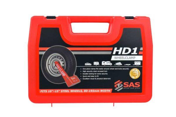 SAS HD1 Wheel Clamp Red Plastic Case 9900011