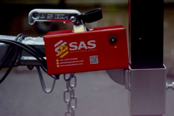 SAS Unbraked Trailer Hitch Lock on Parking Post