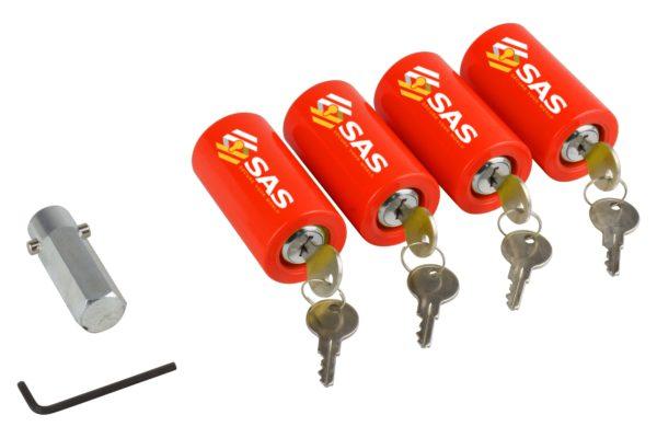 Set of 4 Leg Locks for Caravan