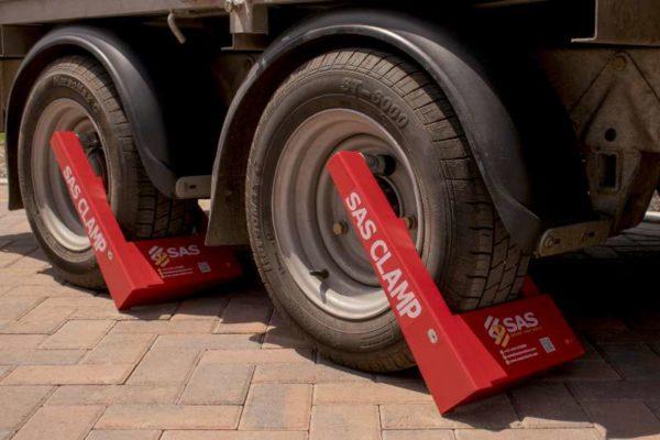 Wheel Clamps for contractors trailer